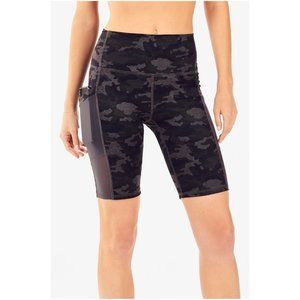 Fabletics High Waisted Camo Compression Shorts NWT
